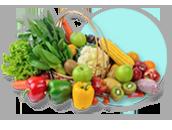 채소/버섯/김치류 선택